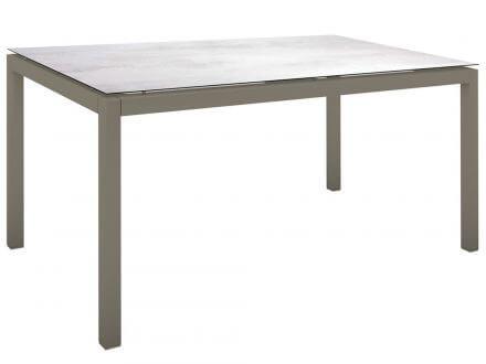 Vorschau: Stern Gartentisch 130x80cm Aluminium taupe/Silverstar 2.0 Zement hell
