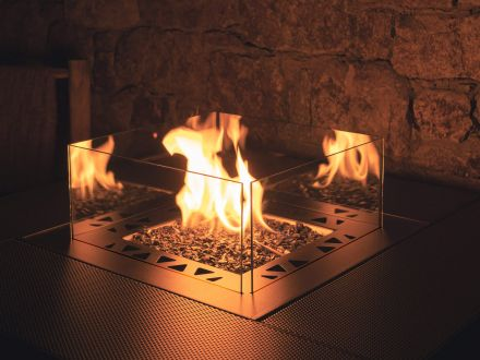 Vorschau: Planika Square Table Gas Feuertisch Feuerstelle