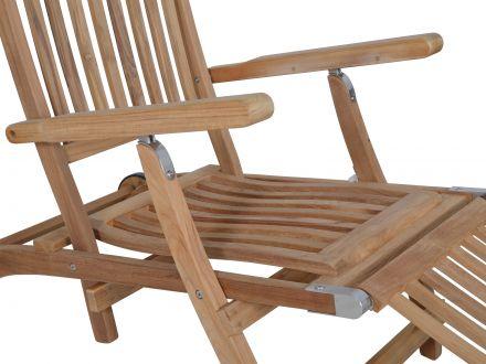 Vorschau: Teakholz Deckchair München Detailbild