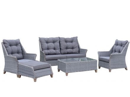 5-teiliges Loungeset Berlin light-grey