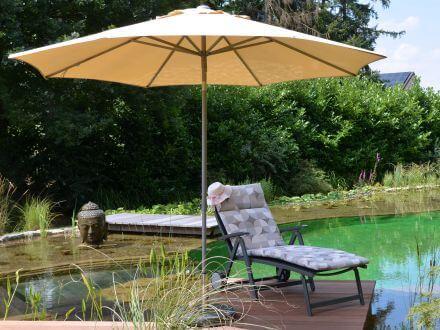 Vorschau: Alu Sonnenschirm für erholsamen Schatten im Garten