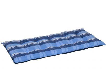 Gartenbank Auflage blau-beige-kariert 110cm
