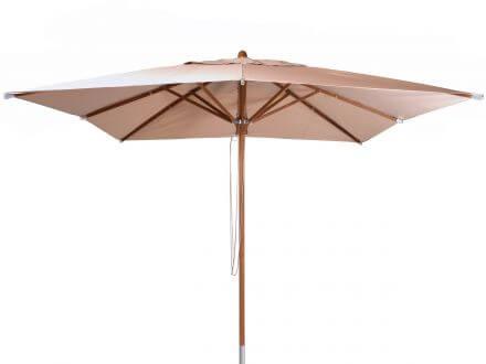 Lünse Teakholz Sonnenschirm Hampton 300x300cm beige