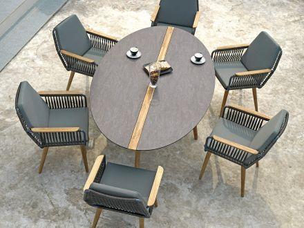 Vorschau: ZEBRA Flix Dining Sessel Ambientebild Sitzgruppenbeispiel