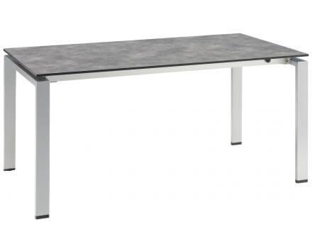 kettler hpl dining ausziehtisch 160 210x95cm silber anthrazit gartenm bel l nse. Black Bedroom Furniture Sets. Home Design Ideas