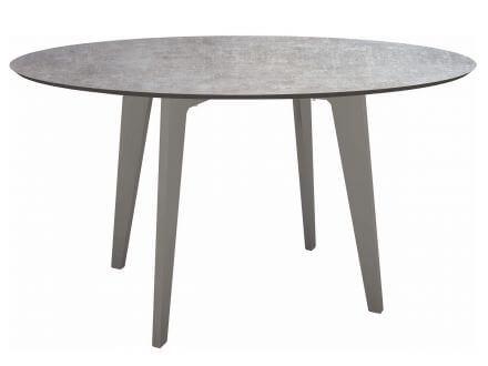 Stern Gartentisch Ø134cm HPL Aluminium graphit