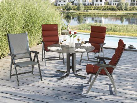 Vorschau: Kettler Dining-Tisch rund, Sitzgruppe im Garten