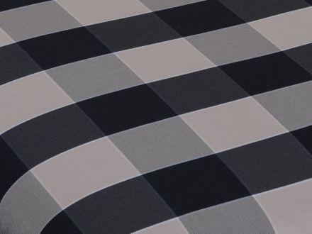 Vorschau: Lünse Bankauflage Stripes-Black 3-Sitzer 140cm