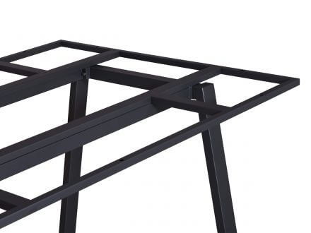 Vorschau: Lünse Tischgestell Locarno Edelstahl anthrazit 220x100cm