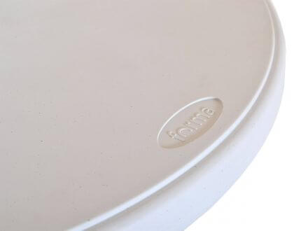 Vorschau: pflegeleichte Tischplatte weiß mit anthrazitfarbenen Sprenklern