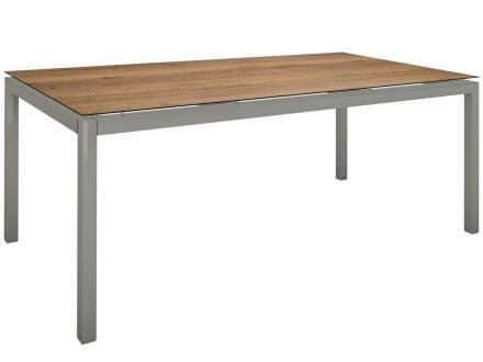 Vorschau: Stern Gartentisch 200x100cm Aluminium graphit/Silverstar Touch Tundra Toffee