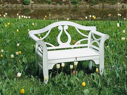 Vorschau: Holz Zweisitzbank Michelle Ambientebild