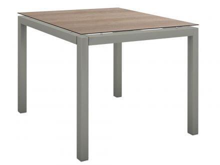 Stern Gartentisch 90x90cm Aluminium graphit/Silverstar 2.0 Tundra braun