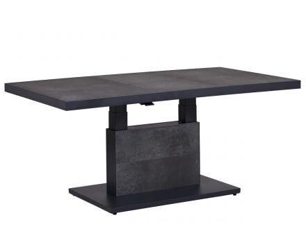 Lünse Alu Lift-Tisch Newport 140x85cm Keramik dark-stone