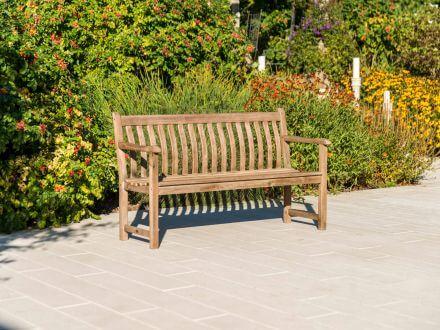 Vorschau: Alexander Rose Sherwood Broadfield Holzgartenbank 146cm 3-Sitzer