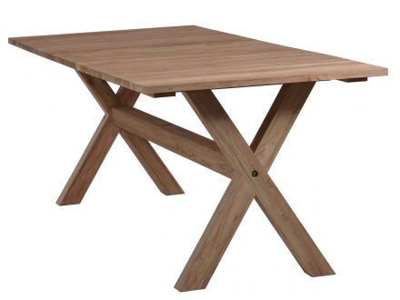 Vorschau: Lünse Gartentisch Rhodos 220x90cm Teak recycelt