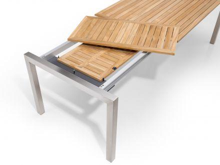 Vorschau: Kulissenauszug (Beine wandern mit) mit im Tisch verstaubaren Einlegeplatten