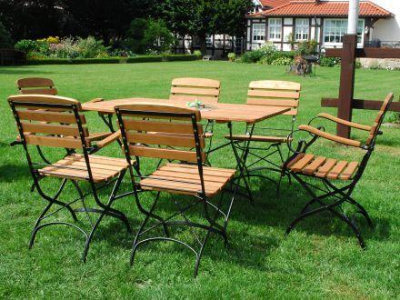 Vorschau: Holz Gartenmöbel Serie Maja Ambientebild