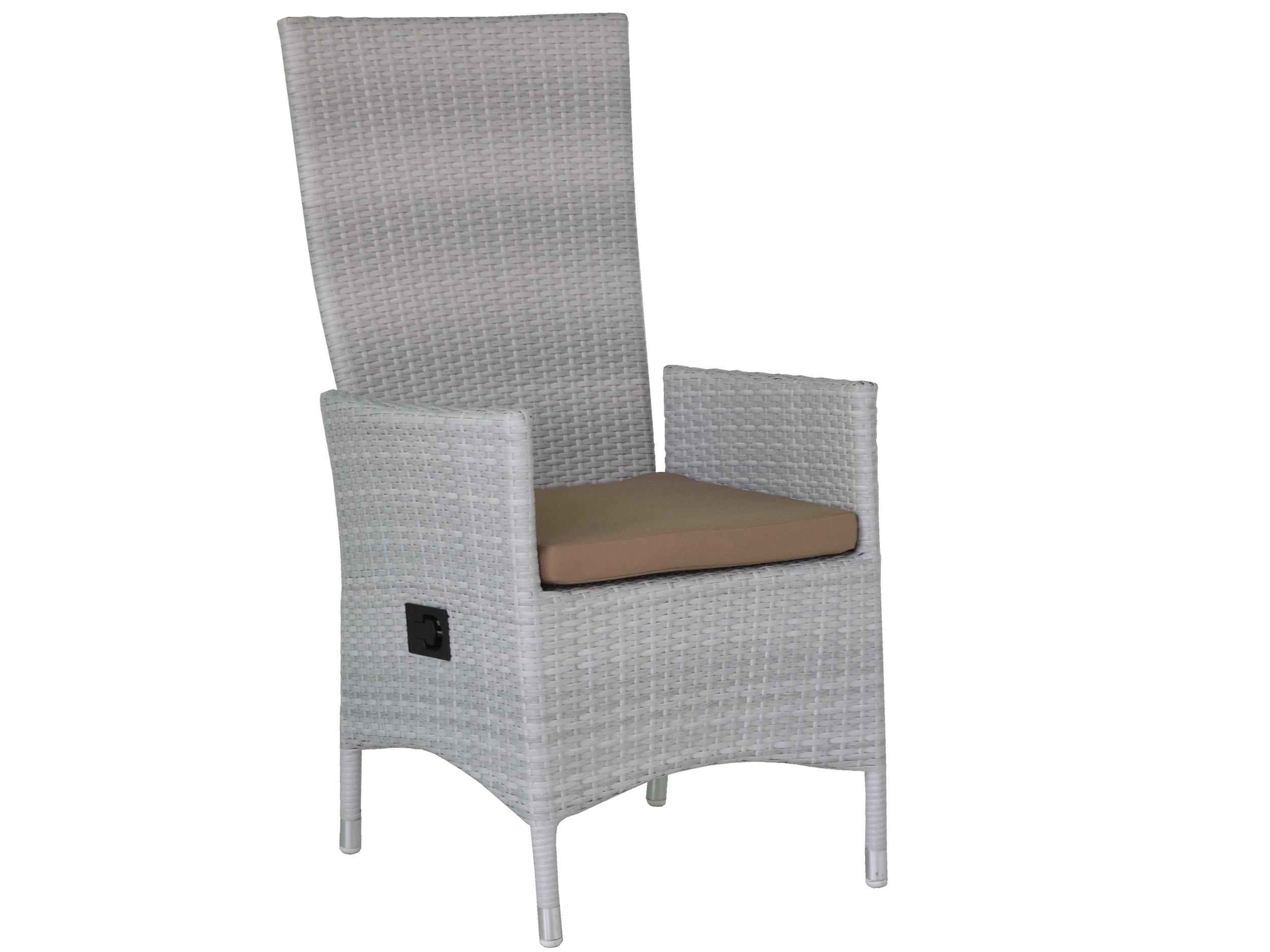 geflecht positionsessel sofia wei inkl kissen gartenm bel l nse. Black Bedroom Furniture Sets. Home Design Ideas