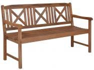 Lünse Holz Gartenbank Bali 158cm 3-Sitzer
