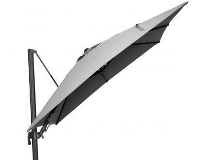 Vorschau: Tierra Outdoor Ampelschirm Duraflex Parasol 300x300cm Light Grey