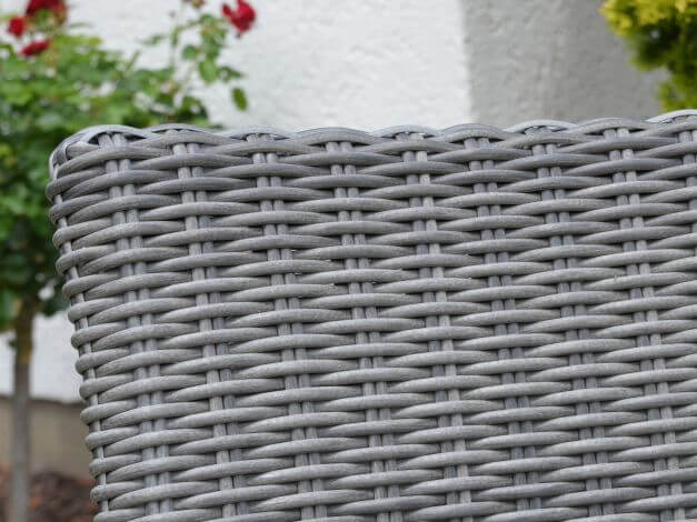 Detailbild PE-Halbrundgeflecht