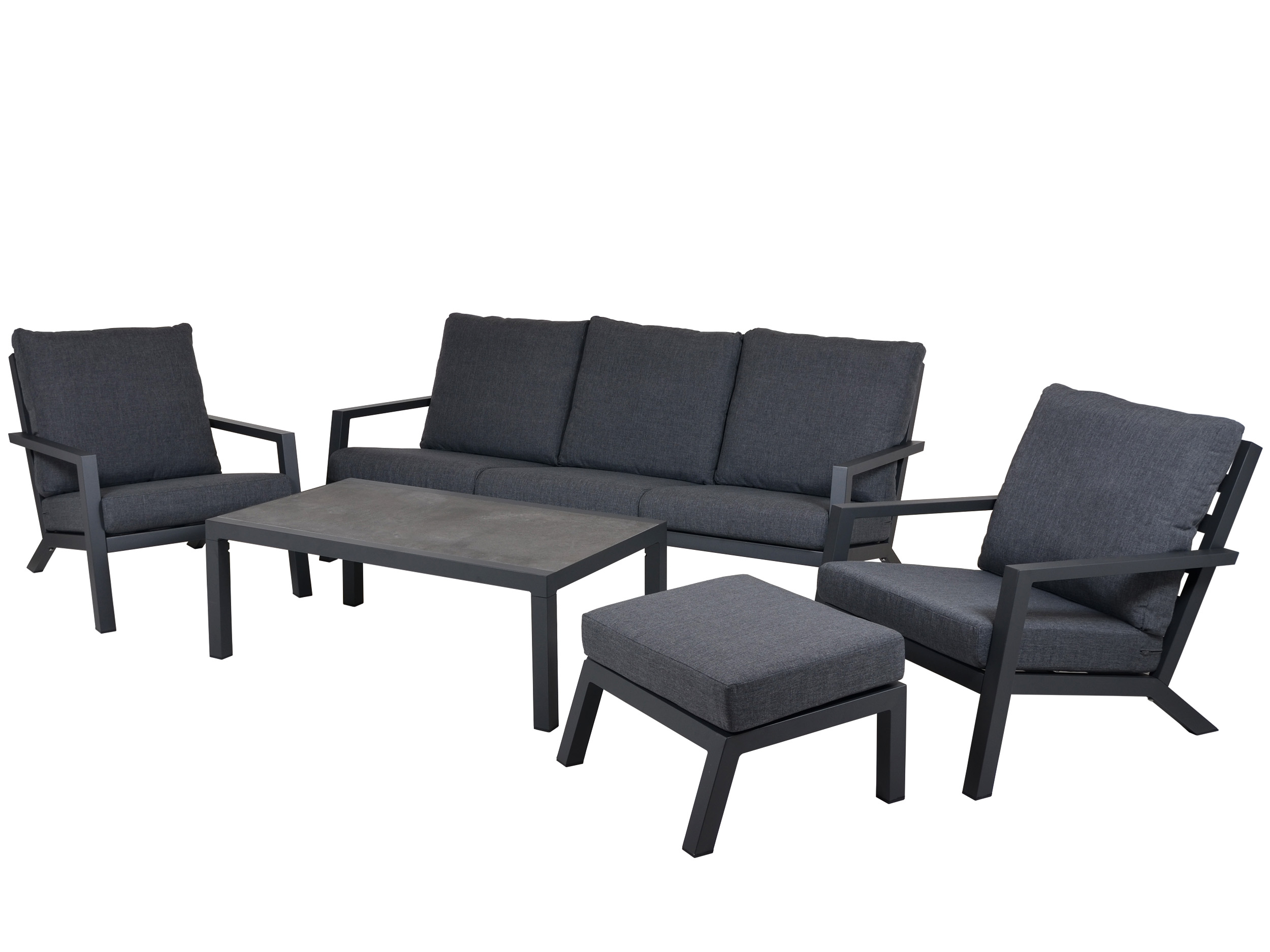 Aluminium garten lounge set 5 teilig gartenm bel l nse for Lounge sessel holz outdoor