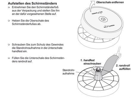 Vorschau: Easy Sun Schirmfuß Infos