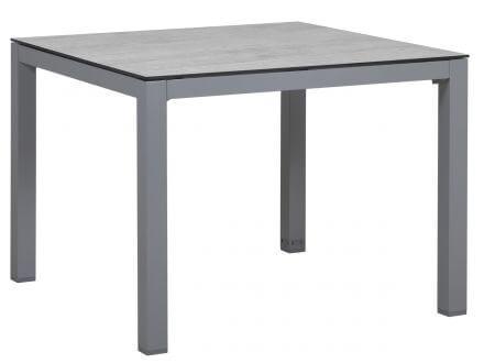 Vorschau: Aluminium/HPL Gartentisch Briga 100x100cm silber