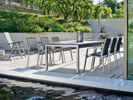 Vorschau: Stapelsessel New Top Sitzgruppe im Garten