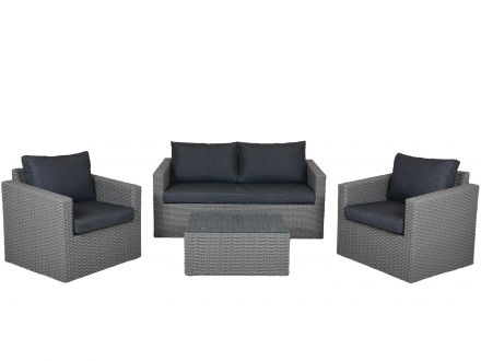 4-teilige Loungegruppe Lotus grey