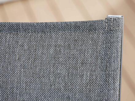 Vorschau: Stern Allround Rollenliege Edelstahl Textilenbezug Leinen grau