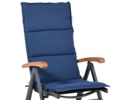 Alu Hochlehner Auflage Malibu, Farbe: denim-blue