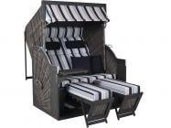 deVries Strandkorb PURE Comfort XL grau Dessin 435