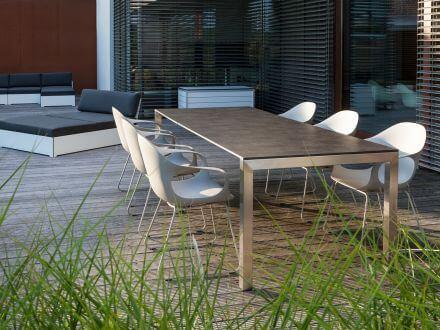 Vorschau: Doppel-Ausziehtisch Sydney Ambientebild im Garten