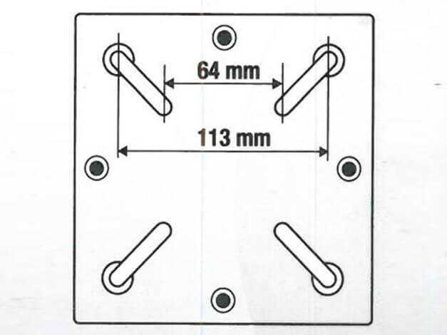 Technische Zeichnung Adapter für Bodenständer