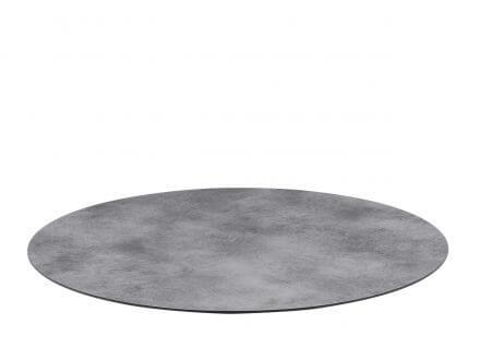 Lünse HPL Tischplatte Nemo Ø80cm Beton-Effekt