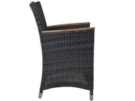 Vorschau: Seitenansicht Polyrattan Sessel Farbe: stone