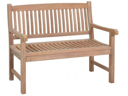 Teakholz Gartenbank Fiona 2-Sitzer