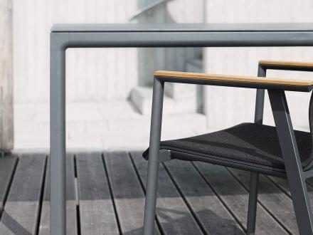 Vorschau: solpuri Soft Alu Dekton Dining Tisch