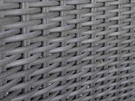 Vorschau: Detailbild PE-Halbrundgeflecht anthrazit