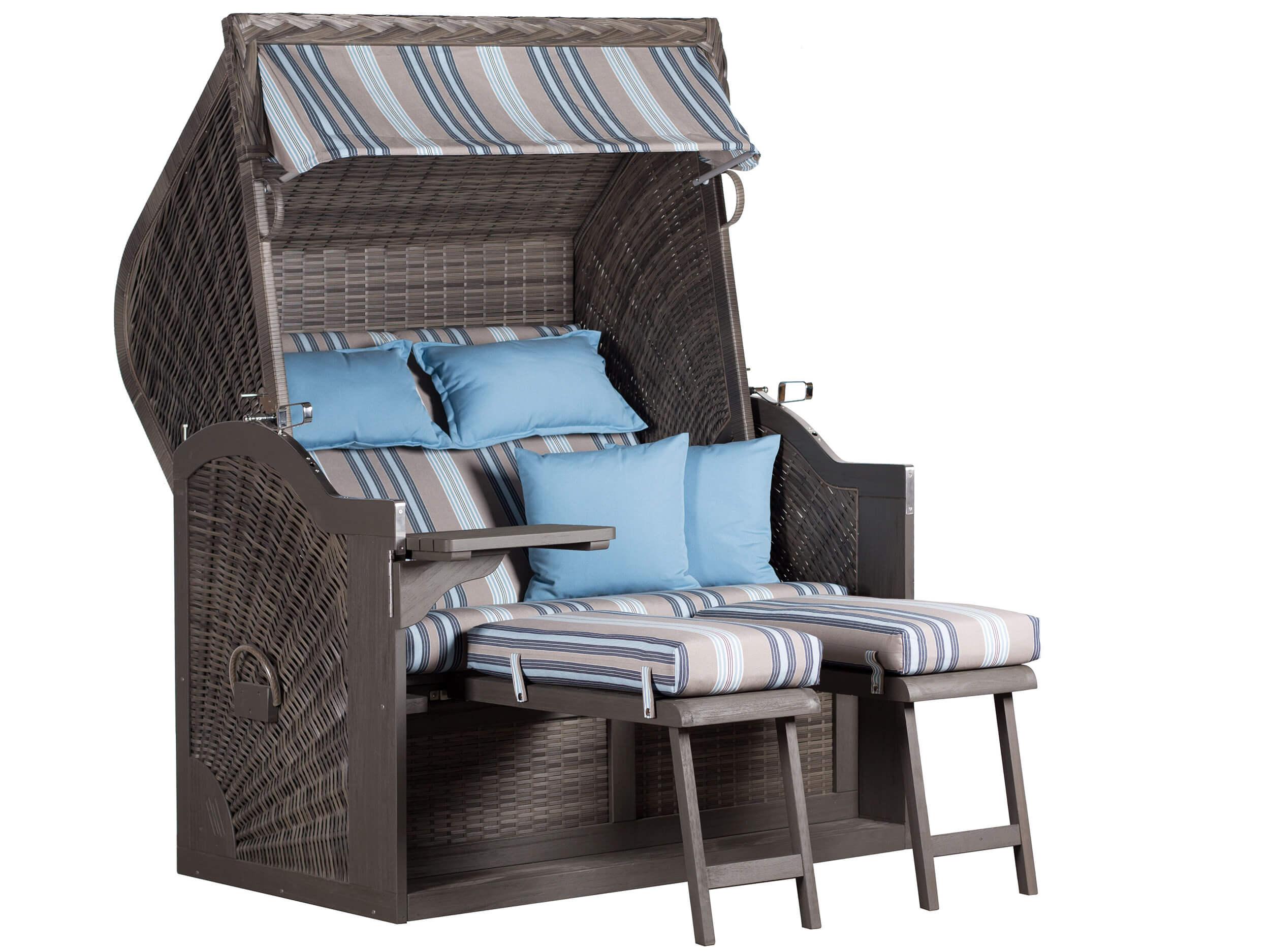 devries strandkorb pure baltic xl grau dessin 104 gartenm bel l nse. Black Bedroom Furniture Sets. Home Design Ideas