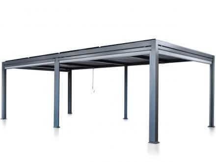 Suns Terrassendach Pavillon Maranza Matt Royal grey 540x350cm
