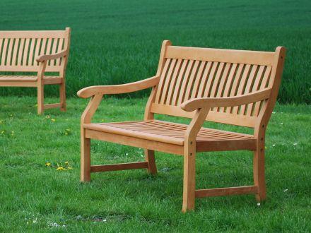 Vorschau: Holz Gartenbank New-England 120cm Ambientebild