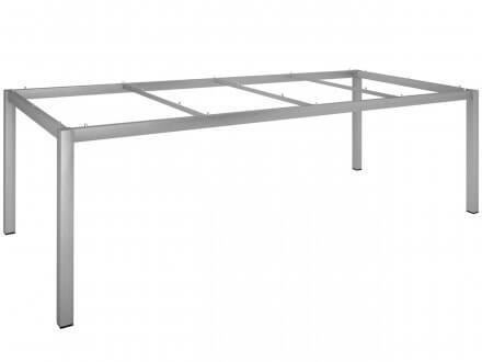 Stern Tischgestell Edelstahl Vierkantrohr 250x100cm