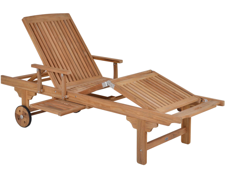 gartenliege aus teakholz san francisco mit rollen gartenm bel l nse. Black Bedroom Furniture Sets. Home Design Ideas