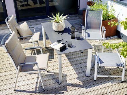 Vorschau: Kettler Balkontisch, Sitzgruppe im Garten Ambientebild