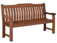 Lünse Holzgartenbank Coburg 3-Sitzer 160cm