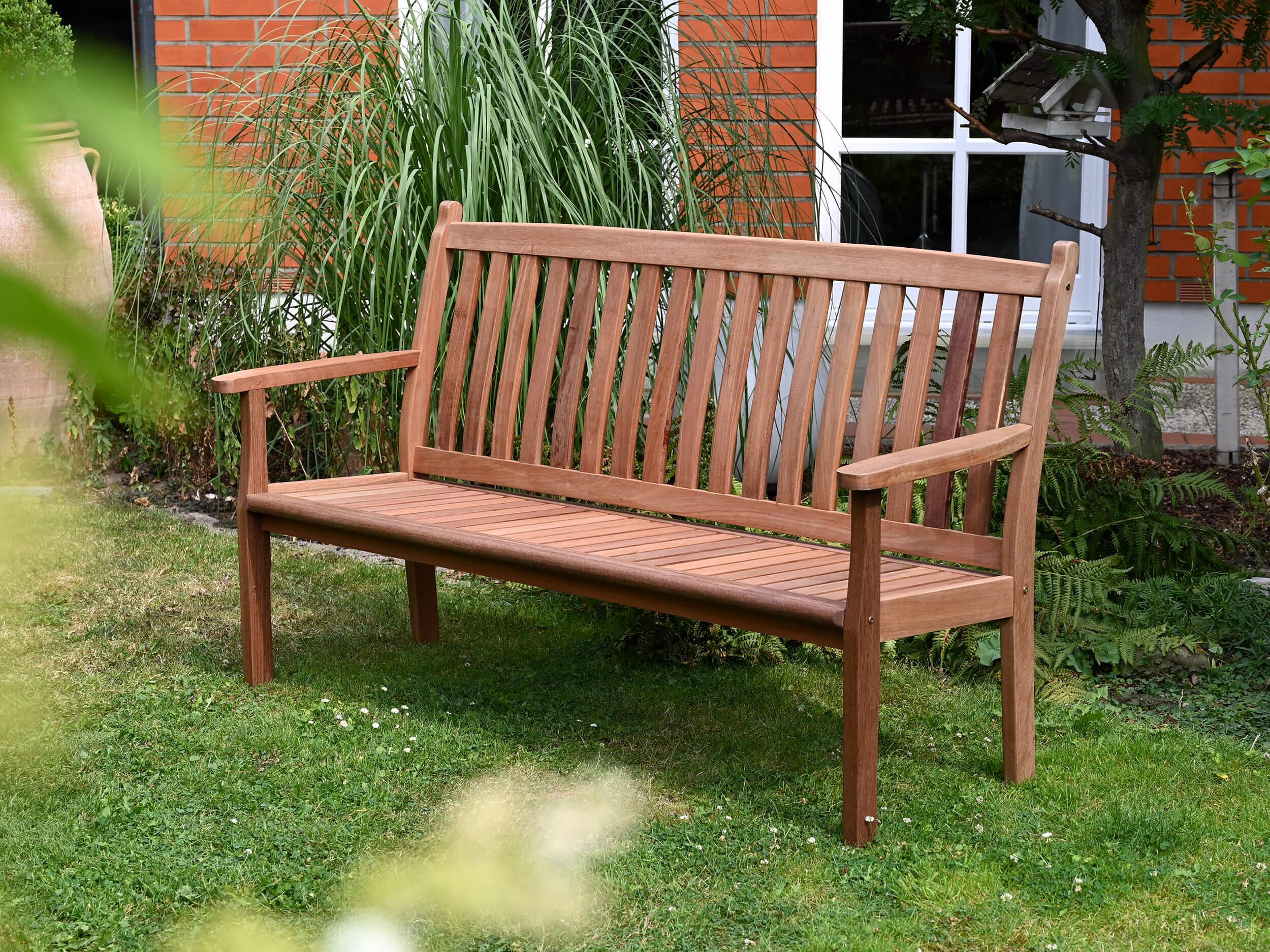 Lünse Holz Gartenbank Marburg 3 Sitzer 165cm
