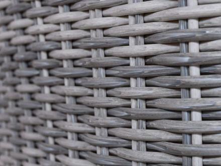 Vorschau: Lünse Polyrattan Diningsessel Amalida white-faded-grey